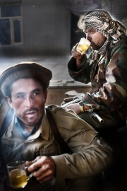 IMAM SHAHIB, AFGHANISTAN-OCTOBER, 2012: Tea break at the Naseri Qanaka base. (Photo by Veronique deViguerie/Reportage by Getty Images)