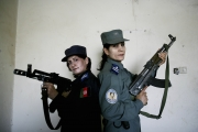 Woman police officer in Kandahar