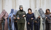 KANDAHAR, AFGHANISTAN-APRIL 2007- Police ladies in Kandahar lead by Officer Malalai Kakar. 5Photo by Veronique de Viguerie/ Getty Images)