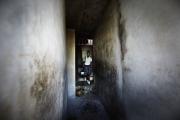 PORT-AU_PRINCE, HAITI-NOV, 2014: La fille de Valentine Calixte, part  a l'ecole. L'ecole est l'une des depense premiere des foyers en Haiti. (Photo by veronique de Viguerie/Reportage by getty images).