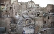SAADA, YEMEN- 2017, OCT: Le quartier de Rahban classé au patrimoine mondial de l'UNESCO a été lourdement detruit par les bombardements aériens.  The Rahban quarter, classified as UNESCO mondial heritage, heavily destroyed by airstrikes.  (Picture by Veronique de Viguerie/Reportage by Getty Images)