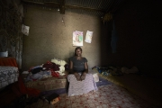 CHIBOK, NIGERIA-JUNE, 2014:  Roufkatou is her daughter's bedroom, Saratou who was kidnapped on the 14th of April. (Picture by Veronique de Viguerie/Reportage by Getty Images).