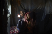 CHIBOK, NIGERIA-JUNE, 2014:  Kolo and her daughter Martha are in is Naomi's bedroom who was kidnapped on the 14th of April. (Picture by Veronique de Viguerie/Reportage by Getty Images).
