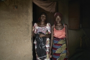 CHIBOK, NIGERIA-JUNE, 2014:  Kolo and her daughter Martha are in front of Naomi's bedroom who was kidnapped on the 14th of April. (Picture by Veronique de Viguerie/Reportage by Getty Images).
