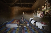 CHIBOK, NIGERIA-JUNE, 2014:  Naomi in her daughter's bedroom Moda who was kidnapped on the 14th of April. (Picture by Veronique de Viguerie/Reportage by Getty Images).
