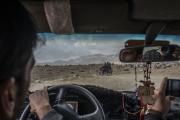 Bienvenue en territoire Taliban. Une partie du Wardak au sud  de Kaboul est totalement administrée par les Taliban. Notre escorte Taliban.