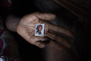 CHIBOK, NIGERIA-JUNE, 2014:  Kolo is holding her daughter's picture, Naomi who was kidnapped on the 14th of April. (Picture by Veronique de Viguerie/Reportage by Getty Images).