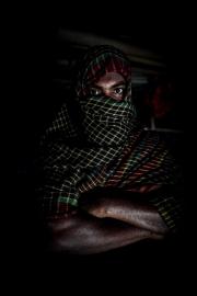 COX BAZAR, BANGLADESH- SEPT, 2018: Karimullah (faux prenom) (28) vient du village de Tulatouli en Birmanie. Il a participé à l'attaque du poste de police du 24 aôut 2017 qui a engnedré une répression violente qui a amené plus d'un million de Rohingyas a fuir la Birmanie. Avec d'autres memebres cachés dans le camp, ils attendent les ordres de leur commandement. Ils font partie de l'Armée de Libération de l'Arakan ou ARSA. (Picture by veronique de Viguerie/Getty Reportage)