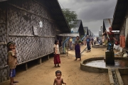 SITTWE, MYANMAR- JUNE, 2015: In Sittwe, around 300 000 Rohingyas are living in camps since 2012. They are not allowed to go out, neither to work. They are living on food rations. (Picture by Veronique de Viguerie/Reportage by getty Images).