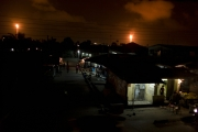 BONY, NIGER DELTA, NIGERIA- JULY, 2016: The Bony Island is lited by the refineries eventhough most of the village have no electricity. (Picture by Veronique de Viguerie/ Reporatge by getty Images).
