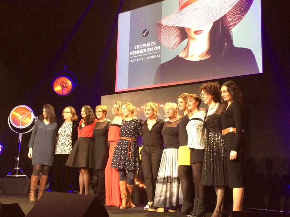 Prix special photoreporter de Paris-Match, Femmes En Or 2015 à Avoriaz. Trop fière d'être Femme en Or pour la deuxième année consécutive.