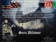 KABUL, AFGHANISTAN-APRIL, 2013: Sara Dilamar's certificate given by the US Special Forces in Afghanistan. (Picture by Veronique de Viguerie/Reportage by Getty Images)