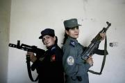Woman police officer in Kandahar