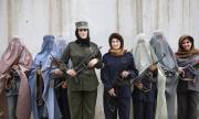 KANDAHAR, AFGHANISTAN-APRIL 2007- Police ladies in Kandahar lead by Officer Malalai Kakar. 5Photo by Veronique de Viguerie/ Getty Images)