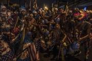 RIO, BRESIL-MARCH, 2019: Ce soir, les Cobras recoivent d'autres gangs de Bate Bola sur leur territoire à Marechal Hermes. Quelques heures plus tard, une tuerie eclatera entre la bande des Camelias et celle des Cobras, faisant 8 bléssés par balle dont 2 morts. (Picture by Veronique de Viguerie/Getty Reportage)