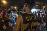RIO, BRESIL-MARCH, 2019: Ce soir, les Cobras recoivent d'autres gangs de Bate Bola sur leur territoire à Marechal Hermes. Ils surveillent le bon déroulement du bal de Bate Bola. Quelques heures plus tard, une tuerie eclatera entre la bande des Camelias et celle des Cobras, faisant 8 bléssés par balle dont 2 morts. (Picture by Veronique de Viguerie/Getty Reportage)