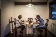 CARACAS, VENEZUELA- NOV, 2018: Jenny Yibrin et son mari Manuel Rada Schlaefli, tous les deux medecins, sont payés le salaire moyen. Il était de 6 $ lorsque nous sommes arrivées et était passé à 4$, la semaine suivante. Ils ne mangent plus que 2 maigres repas par jour. Des pates, un bouillon et une cannette de thon envoyée par leur fils qui vit aux USA. Ils ont chacun perdu une quinzaine de kilos. (Picture by Veronique de Viguerie/Reportage by Getty Images)