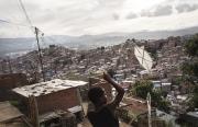 CARACAS, VENEZUELA- NOV, 2018: Le bidonville de Pitaré qui abrite 900 000 personnes, le plus grand de toute l'Amérique Latine. (Picture by Véronique de Viguerie/Reportage by Getty Images)