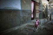 PORT-AU_PRINCE, HAITI-NOV, 2014: Marie-Magalie a profite d'un babyloan pour montre son petit commerce a Cite Soleil. Ca lui permet d'elever et d'envoyer ses 6 enfants a l'ecole. (Photo by veronique de Viguerie/Reportage by getty images).