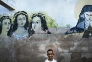 CITE SOLEIL, HAITI-NOV, 2014: Les batiments dedies au Vaudou sont partout.  (Photo by veronique de Viguerie/Reportage by getty images).