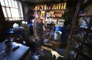 PORT-AU_PRINCE, HAITI-NOV, 2014: Valentine Calixte, beneficiaire de Pamis, a monte son business, un petit magasin, a Port-au-Prince.  (Photo by veronique de Viguerie/Reportage by getty images).