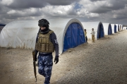 """TIKRIT, IRAQ- MARCH, 2017: In this """"punitive"""" camp, 500 families related by ISIS evicted by their local community are living. They are not allowed to have phone, to go out and they are watched by armed milicias. (Picture by Veronique de Viguerie/ Reportage by Getty Images)"""