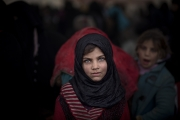 MOSUL, IRAK- MARCH, 2017: Families fleeing the fierce fightings in Mosul. (Picture by Veronique de Viguerie/ Reportage by Getty Images)