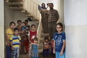 ERBIl, IRAQ-SEPTEMBER, 2014: Ahmoud, Faouzia and their 10 children were forced to leave their house in Bakhara because ISIS took their village near Mosul. (Picture by Veronique de Viguerie/Reportage by Getty Images)