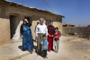 BARSHIRKHA, IRAQ-SEPTEMBER, 2014: Hussein Mohamed, Reida Safis and their children are back to their village now in the hands of the Peshmergas. But there is nothing there, shops, scholl etc. Everything is closed. (Picture by Veronique de Viguerie/Reportage by Getty Images)