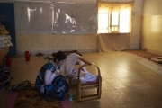 DOHOUK, IRAQ-SEPTEMBER, 2014: A Yezidi refugee just gave birt 2 days ago to a bbay boy. She took shelter with other families in a school in Dohouk. Many women and young girls were kidnapped and used as sex slaves by ISIS. (Picture by Veronique de Viguerie/Reportage by Getty Images).