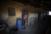 CHIBOK, NIGERIA-JUNE, 2014: Salome is at the door of her daughter Salome's bedroom kidnapped the 14th of April. (Picture by Veronique de Viguerie/Reportage by Getty Images).