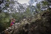 SIMIGAON, NEPAl-APRIL, 2015:Dès l'enfance, on porte et on grimpe, tout et tout le temps. Simigaon 2000m(Picture by Veronique de Viguerie/Reportage by Getty Images)