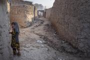 Le camp de déplacés de Charahi Qabmar Afshar. Ces déplacés viennent des régions du Helmand, des territoires controlés par les Talibans. Dans ces régions reculées, la charia est appliquée très strictement. La plupart ont fui les combats qui font rage entre la Coalition et les talibans et se retrouvent sans rien.
