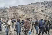Nangahar, Afghanistan-Dec, 2019: Taliban fighters under Mollah Tarek commands are arriving to their General Quarter an abandoned village in the middle of the mountains. (Picture by Veronique de Viguerie/Getty Reportage)