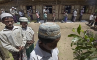 SITTWE, MYANMAR- JUNE, 2015: Friday prayer at a mosque in a camp. Rohingya people are mostly muslim.(Picture by Veronique de Viguerie/Reportage by getty Images).