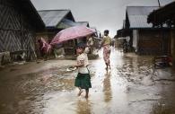 SITTWE, MYANMAR- JUNE, 2015: Bodouba camp during monsoon.  (Picture by Veronique de Viguerie/Reportage by getty Images).