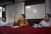 SITTWE, MYANMAR- JUNE, 2015: Aye Nu San is the vice chairman of the National Rahkine parti. They don't want to integrate all the Rohingyas in the Birman community. (Picture by Veronique de Viguerie/Reportage by getty Images).