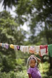 SURIGAO, MINDANAO- JUNE, 2017: Au village Lumad de Manobo il y a 87 foyers. Ces indigènes vivent de la pêche et de la chasse au rythme de la nature. Pourtant ils risquent d'être chassés par une explitation minière prochainement. The Lumad village of Manobo with 87 households. These indigeneous people are living with the nature but they are afraid that soon they will be kicked of by some mine exploitations. Picture by Veronique de Viguerie/Reportage by Getty Images)