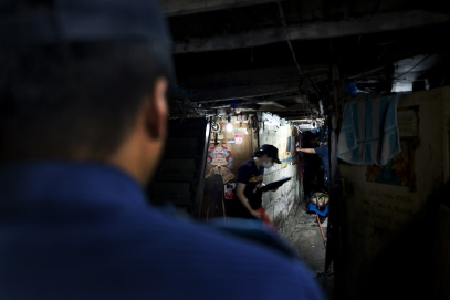 MANILA, PHILIPPINES - OCT, 2016: Two young men suspected drug users were killed. (Picture by Veronique de Viguerie/ Reportage by Getty Images).