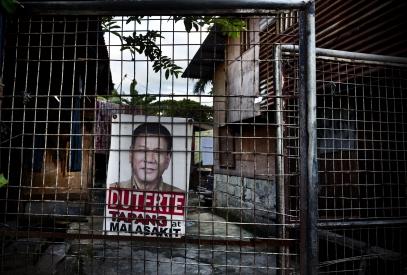 MANILA, PHILIPPINES - OCT, 2016: President Rodrigo Duterte is still very popular. (Picture by Veronique de Viguerie/ Reportage by Getty Images).