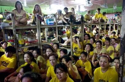 MANILA, PHILIPPINES - OCT, 2016: Women Jail in Quezon City. Made for 56 and now has 911 inmates. (Picture by Veronique de Viguerie/ Reportage by Getty Images).